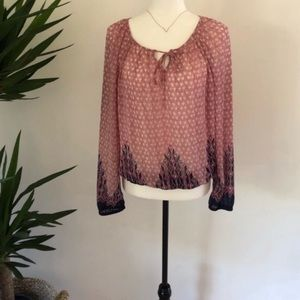 LUCKY BRAND SHEER BLOUSE